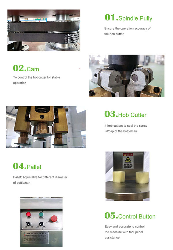 cap sealing machine for glass bottle