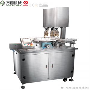 Automatic 3 Head Screw Ropp  Filling and Capping Machine