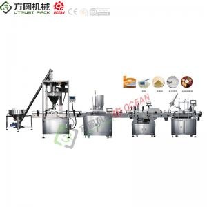 Industrial application powder filling packing line with servo auger filler for tins